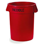 Carlisle 341020INE05 20-gallon Commercial Trash Can - Plastic, Round, Food Rated