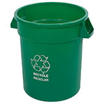Carlisle 341020REC09 20-gal Round Recycle Waste Container - Polyethylene, Green
