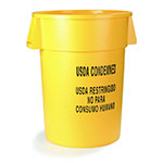 Carlisle 341020USD04 20-gallon Commercial Trash Can - Plastic, Round, Food Rated