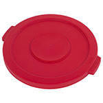 Carlisle 34102105 20-gal Round Waste Container Lid - Polyethylene, Red