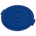 Carlisle 34102114 20-gal Round Waste Container Lid - Polyethylene, Blue