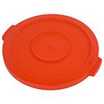 Carlisle 341021-24 20-gal Round Waste Container Lid - Polyethylene, Orange