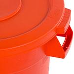Carlisle 341021-24 Round Flat Trash Can Lid - Plastic, Orange