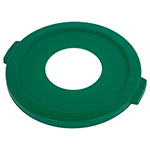 "Carlisle 341021REC09 8"" Round Waste Container Lid - Polyethylene, Green"