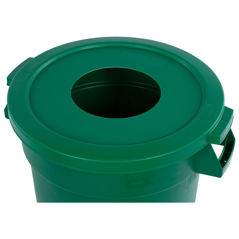 Carlisle 341021REC09 Round Recycling Trash Can Lid - Plastic, Green