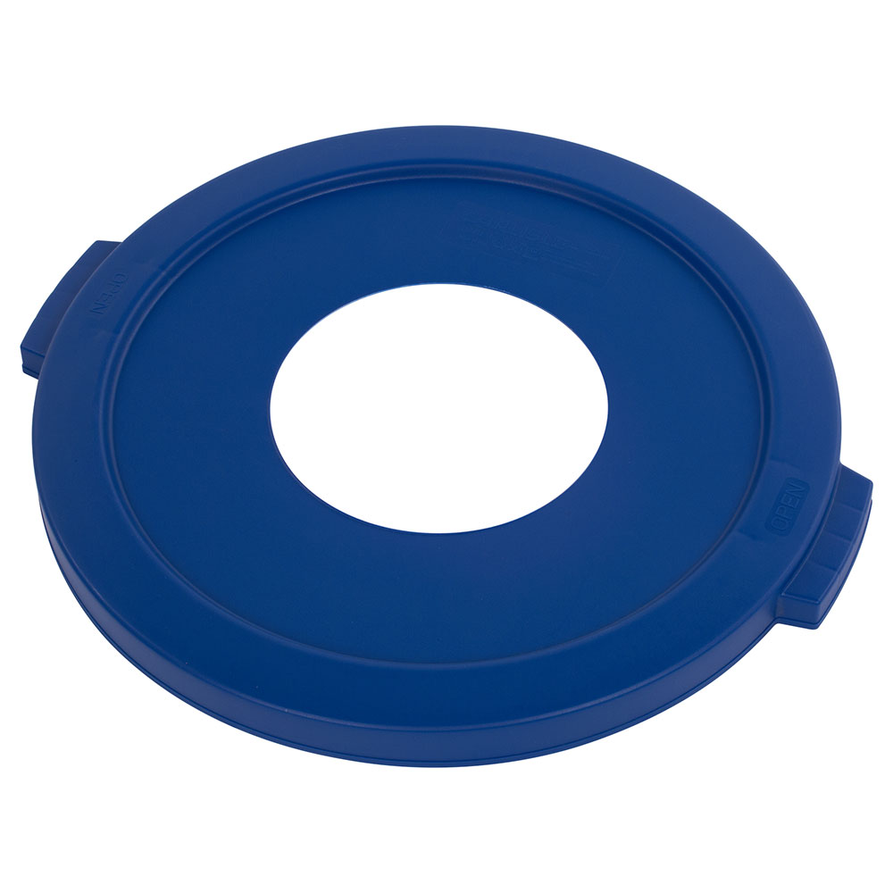 Carlisle 341021REC14 Round Recycling Trash Can Lid - Plastic, Blue