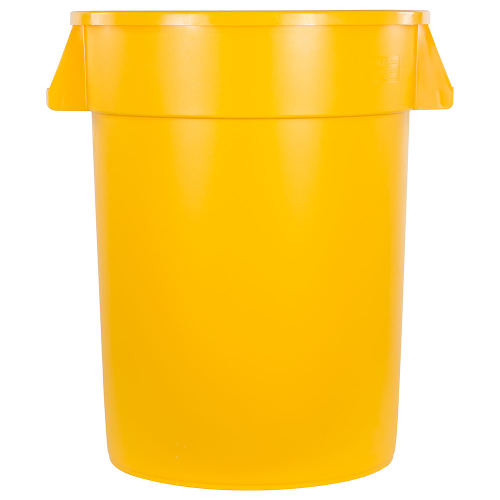 Carlisle 34103204 32-gallon Commercial Trash Can - Plastic, Round, Food Rated