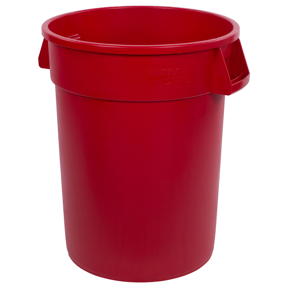 Carlisle 34103205 32-gallon Commercial Trash Can - Plastic, Round, Food Rated
