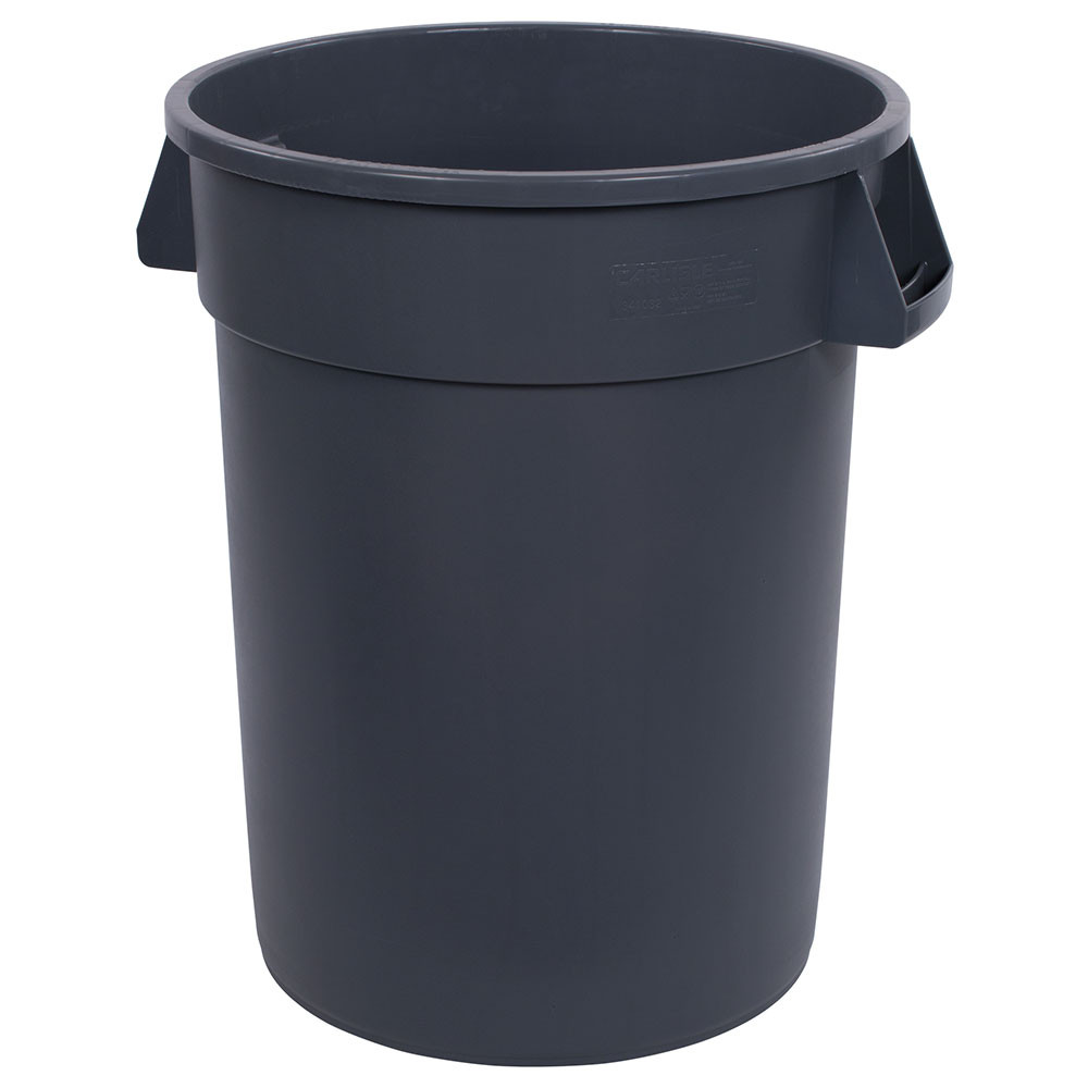 Carlisle 34103223 32-gallon Commercial Trash Can - Plastic, Round, Food Rated