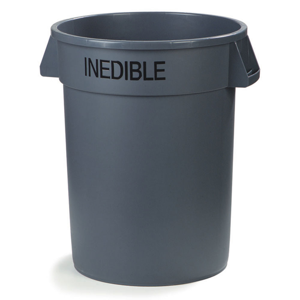Carlisle 341032INE23 32-gallon Commercial Trash Can - Plastic, Round, Food Rated
