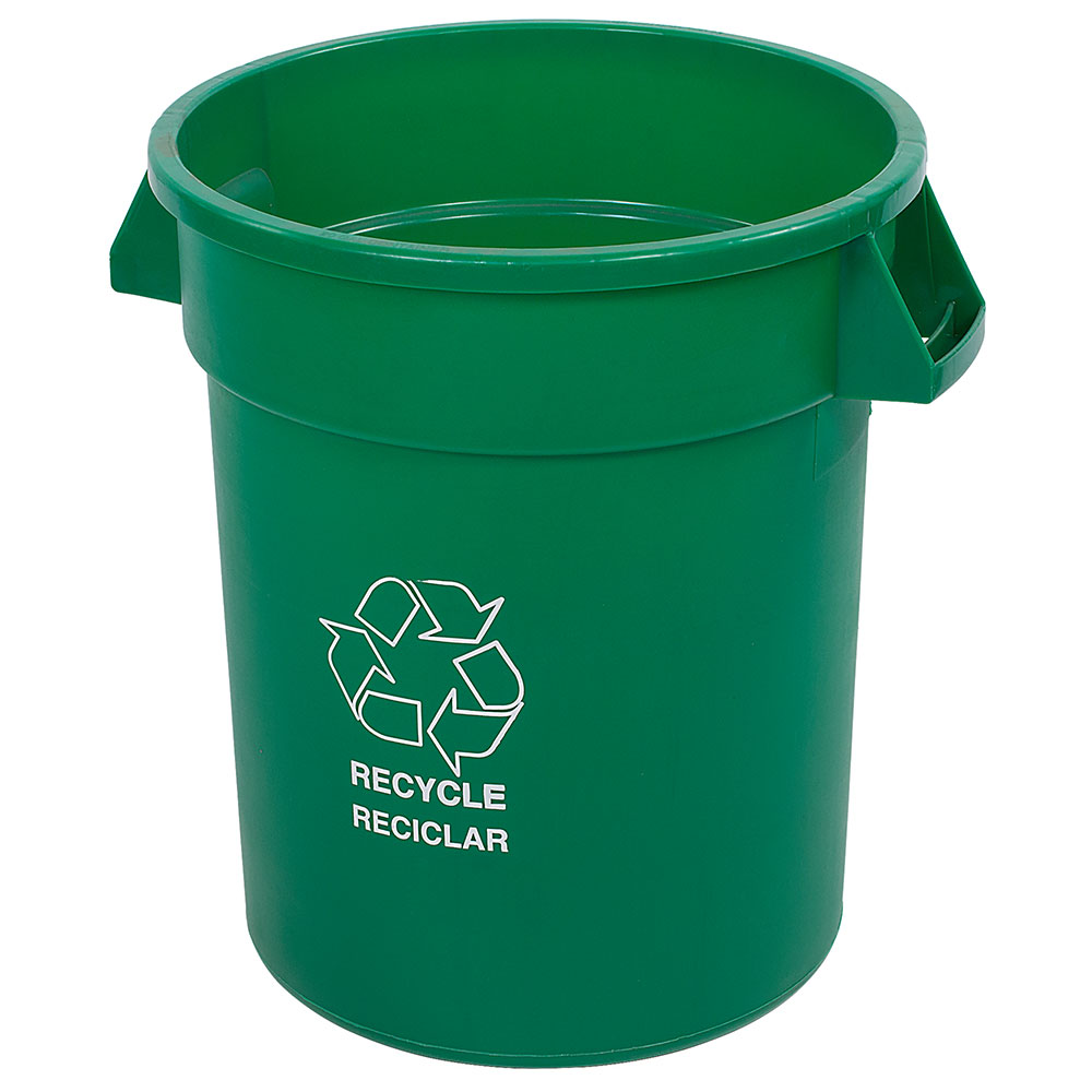 Carlisle 341032REC09 32-gal Multiple Materials Recycle Bin - Indoor/Outdoor