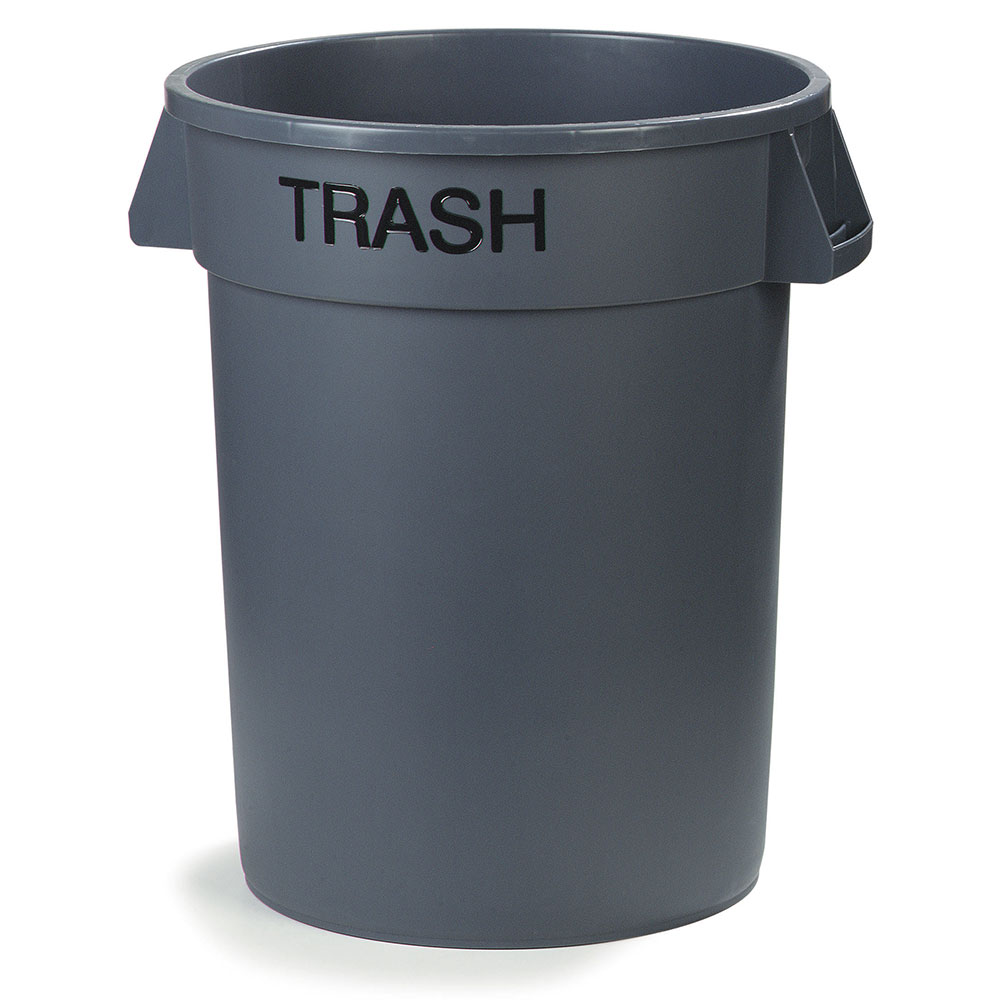 Carlisle 341032TRA23 32-gallon Commercial Trash Can - Plastic, Round, Food Rated