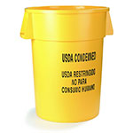 Carlisle 341032USD04 32-gallon Commercial Trash Can - Plastic, Round, Food Rated