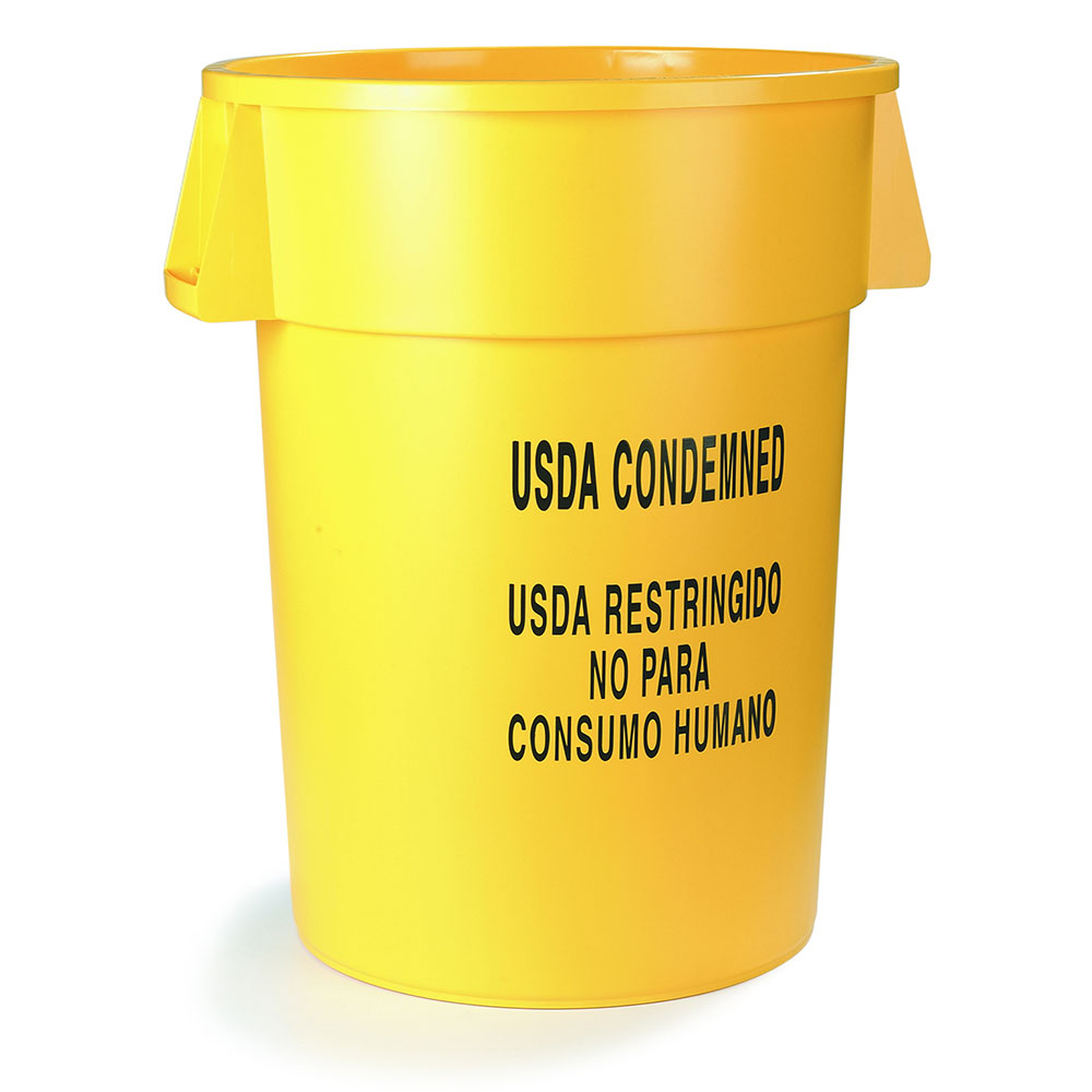 Carlisle 341032USDB04 32-gallon Commercial Trash Can - Plastic, Round, Food Rated
