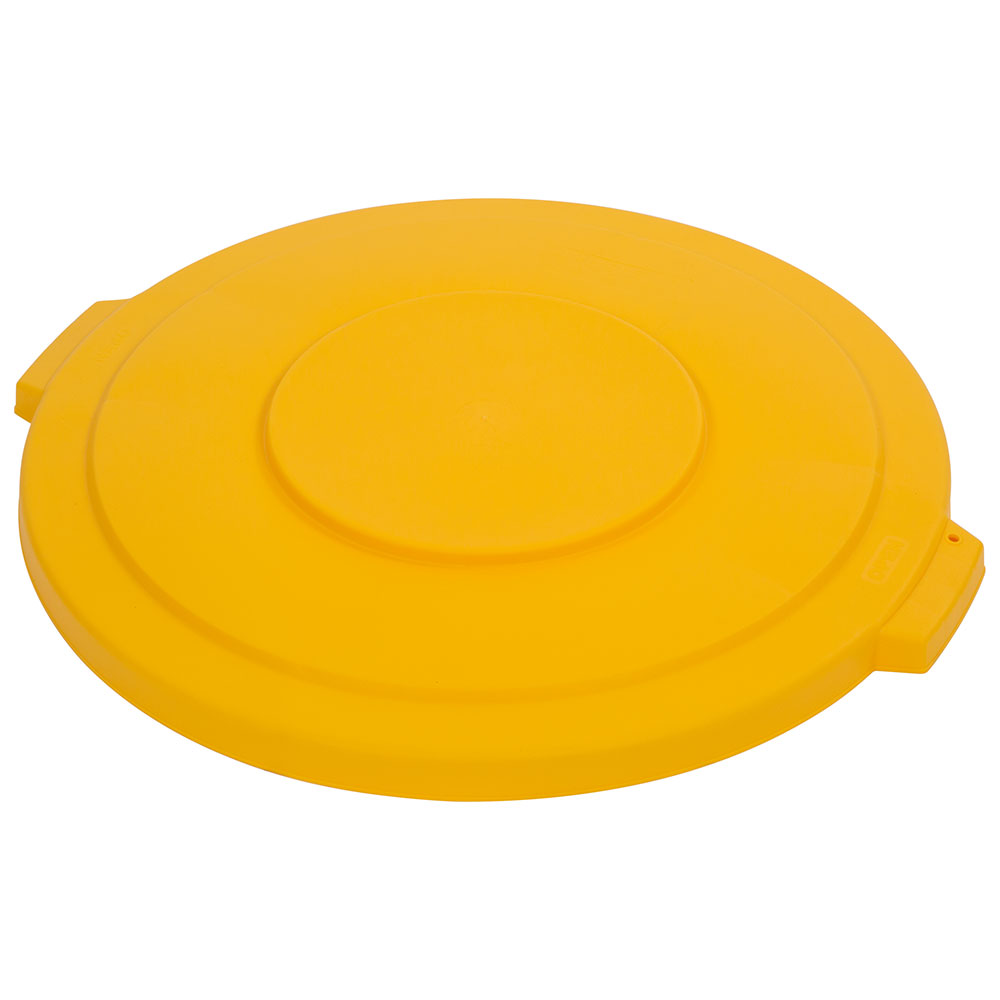Carlisle 34103304 Round Flat Trash Can Lid - Plastic, Yellow