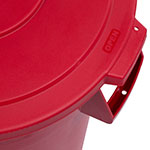 Carlisle 34103305 Round Flat Trash Can Lid - Plastic, Red