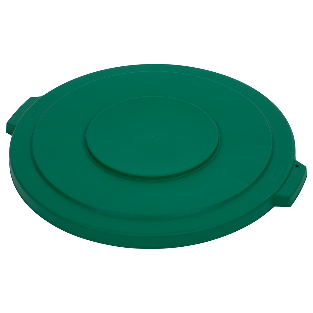 Carlisle 34103309 32-gal Round Waste Container Lid - Polyethylene, Green