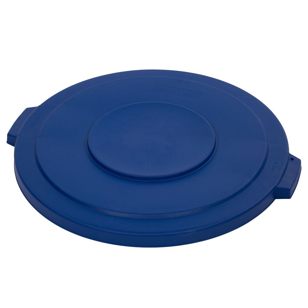 Carlisle 34103314 Round Flat Trash Can Lid - Plastic, Blue
