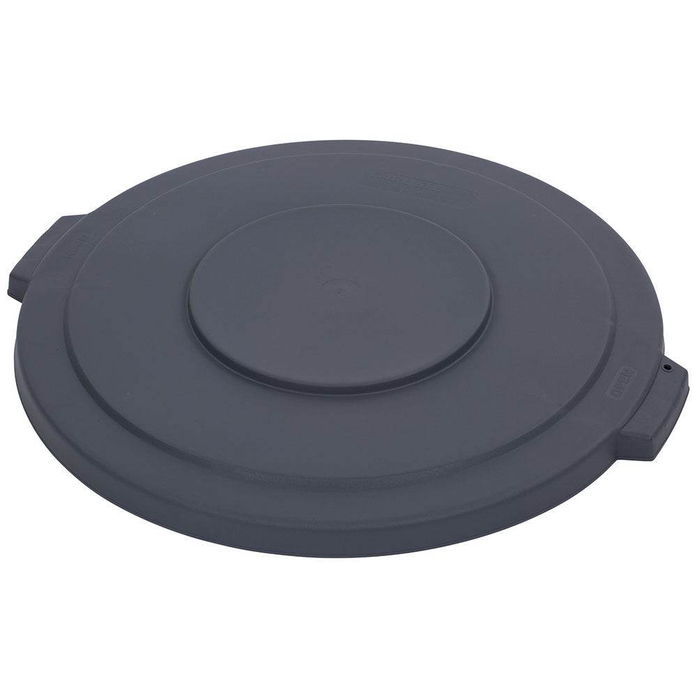 Carlisle 34103323 Round Flat Trash Can Lid - Plastic, Gray