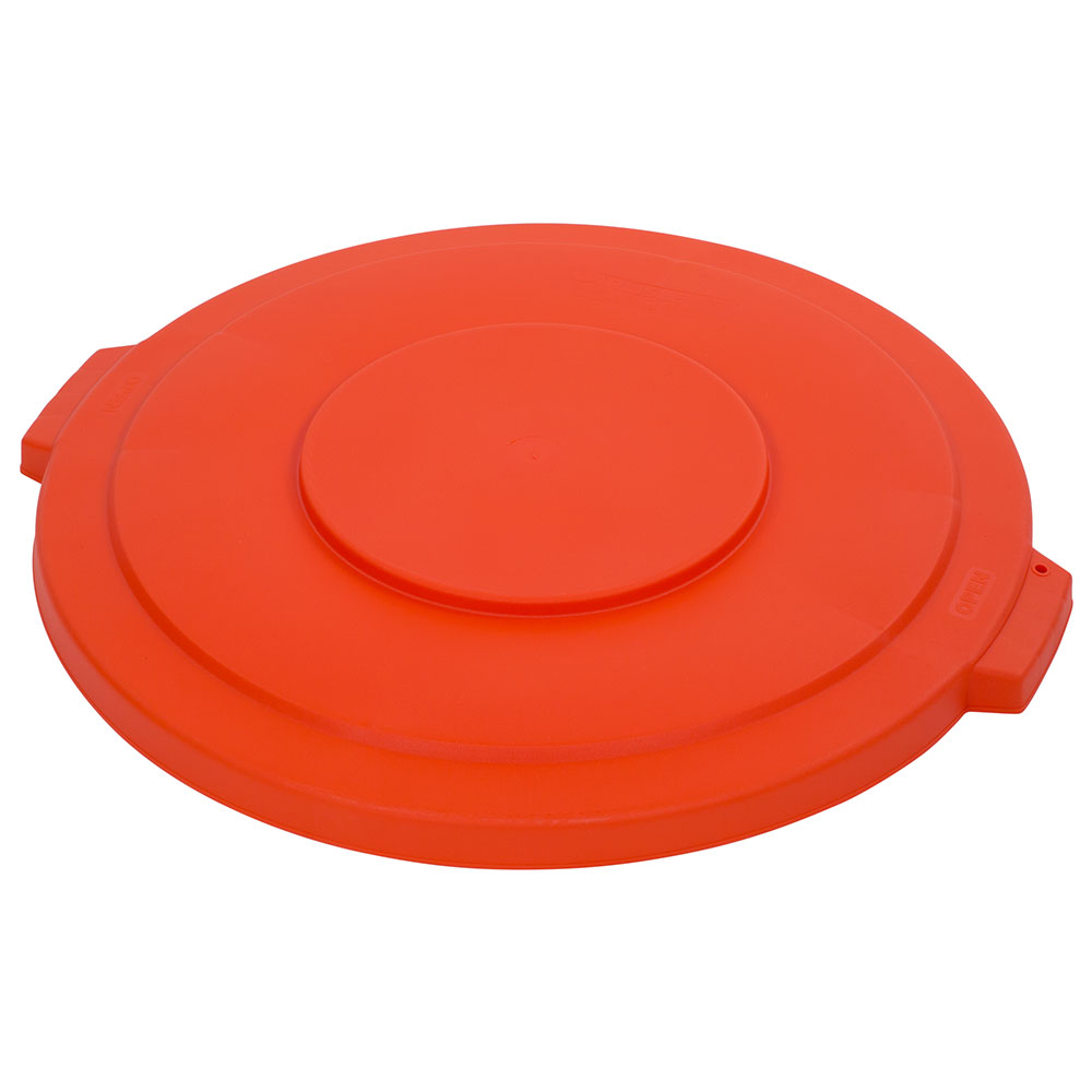 Carlisle 341033-24 32-gal Round Waste Container Lid - Polyethylene, Orange