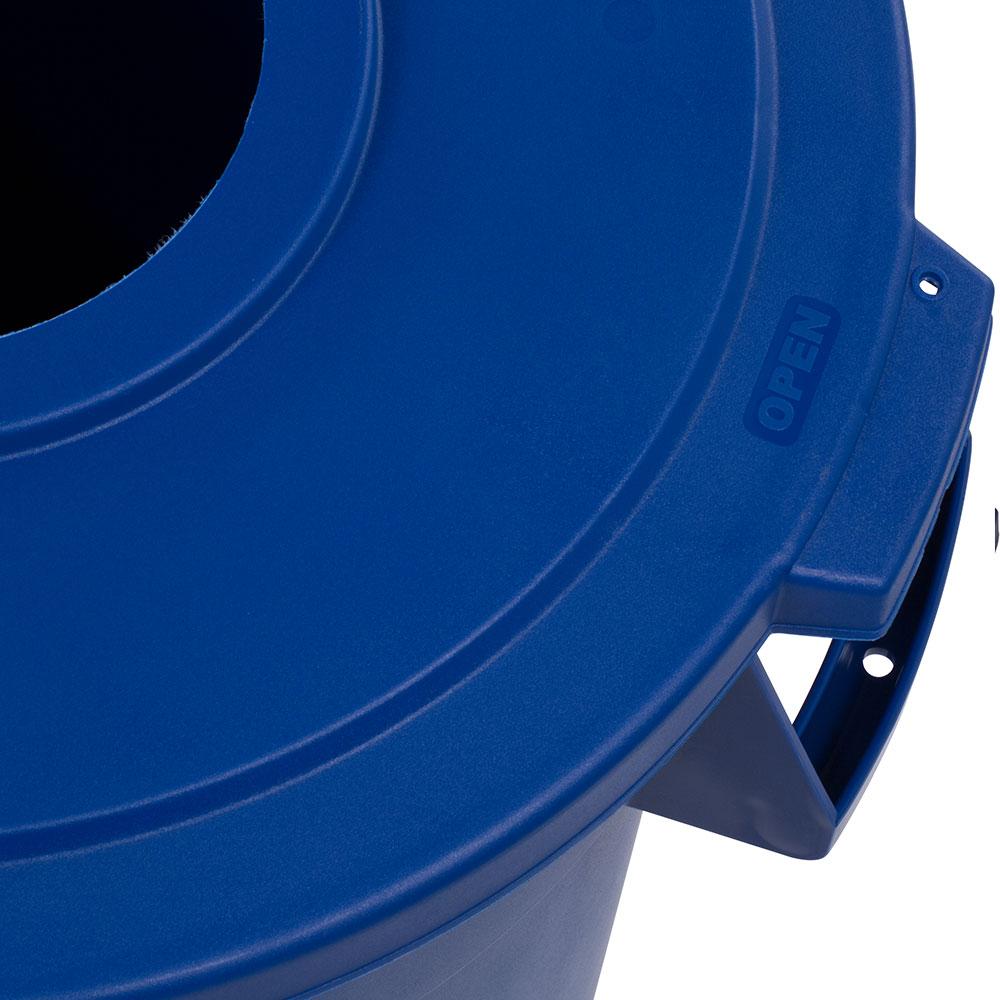 Carlisle 341033REC14 Round Recycling Trash Can Lid - Plastic, Blue