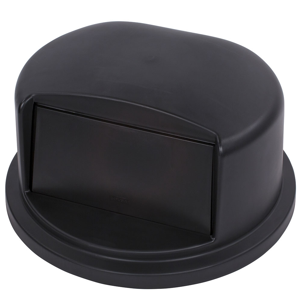 Carlisle 34103403 32-gal Waste Container Dome Lid - Polyethylene, Black