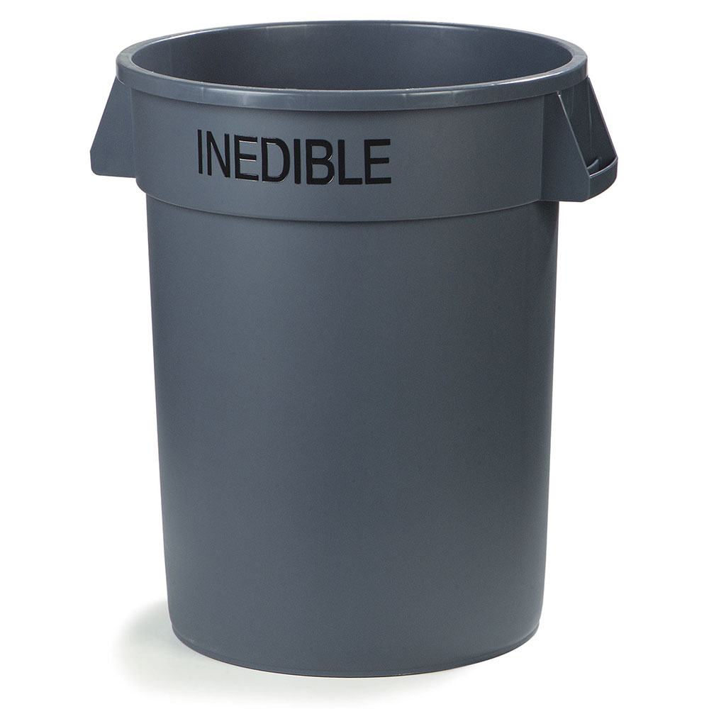 Carlisle 341044INE23 44-gallon Commercial Trash Can - Plastic, Round, Food Rated