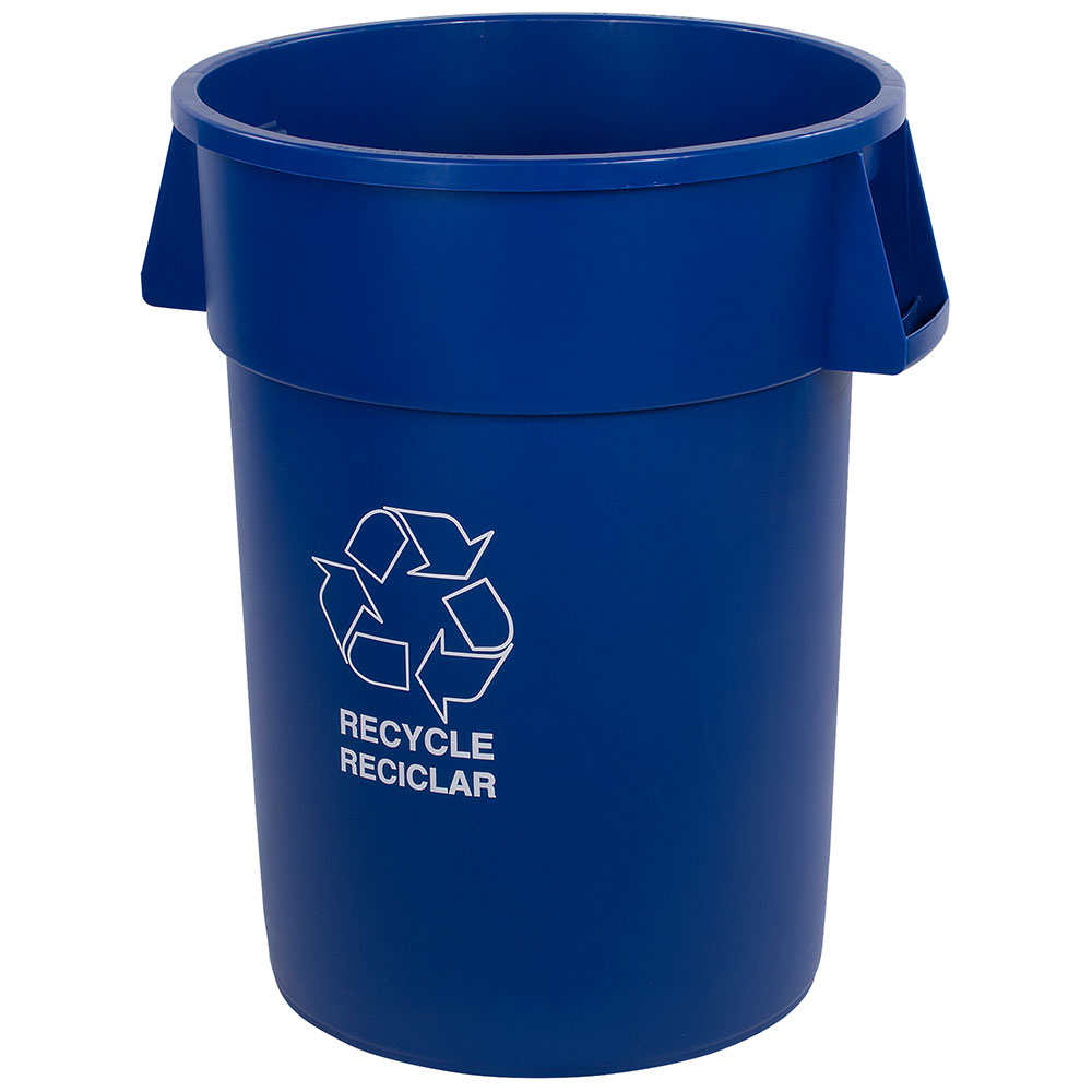 Carlisle 341044REC14 44-gal Multiple Materials Recycle Bin - Indoor/Outdoor