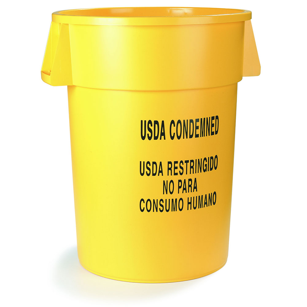 Carlisle 341044USD04 44-gallon Commercial Trash Can - Plastic, Round, Food Rated