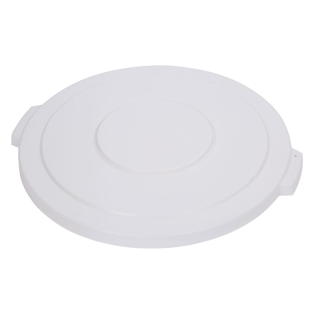 Carlisle 34104502 Round Flat Trash Can Lid - Plastic, White