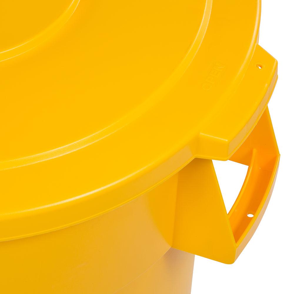 Carlisle 34104504 Round Flat Trash Can Lid - Plastic, Yellow