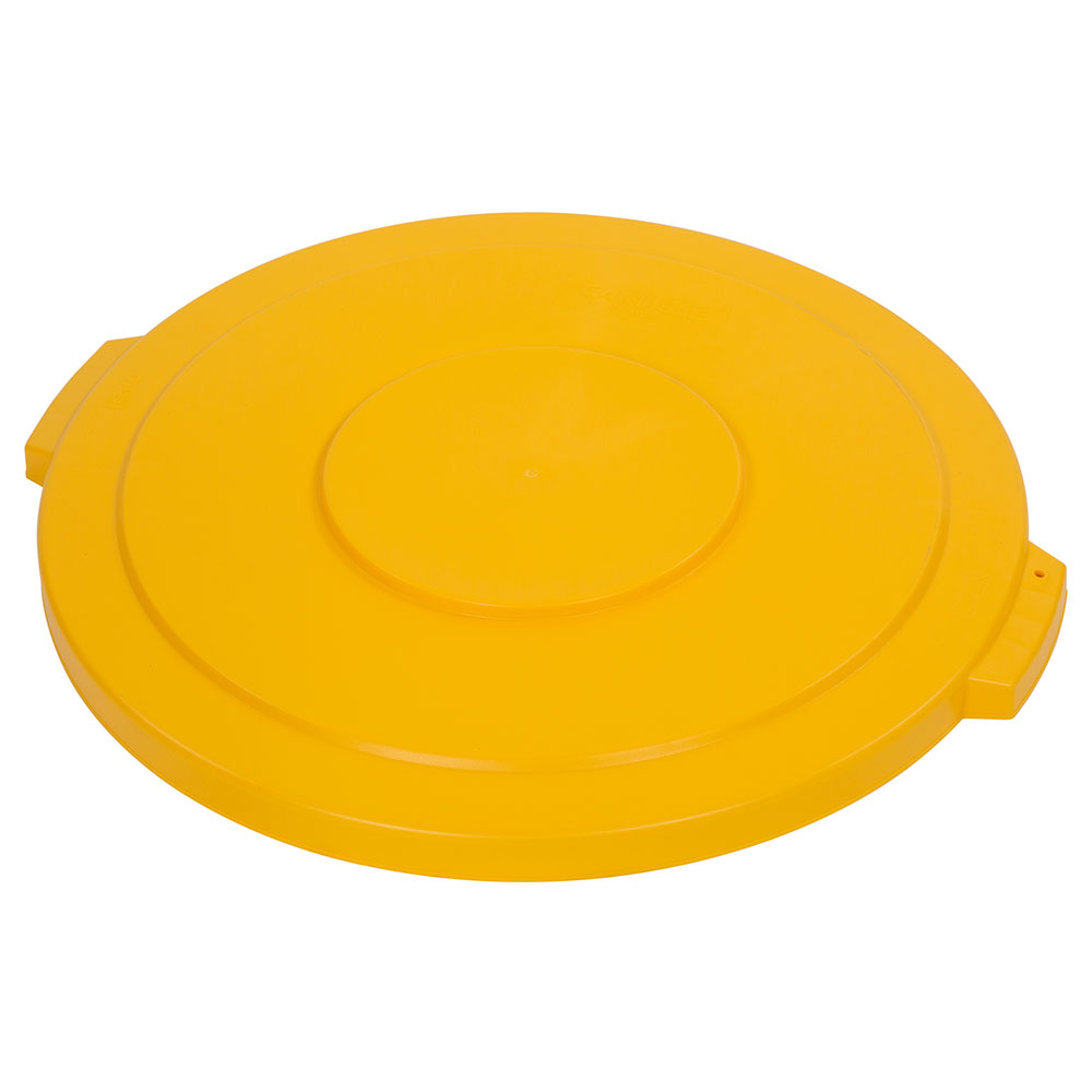 Carlisle 34104504 Round Flat Trash Can Lid - Plastic, Yellow
