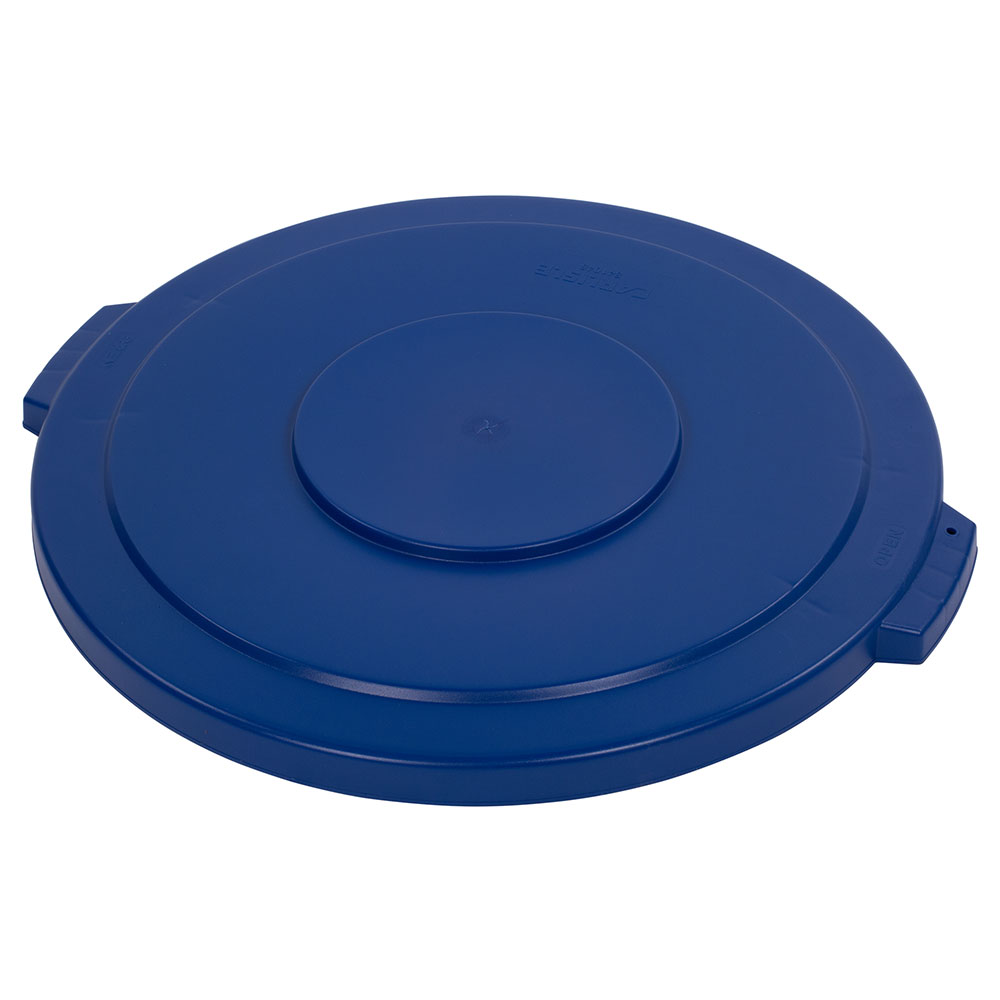 Carlisle 34104514 44-gal Round Waste Container Lid - Polyethylene, Blue