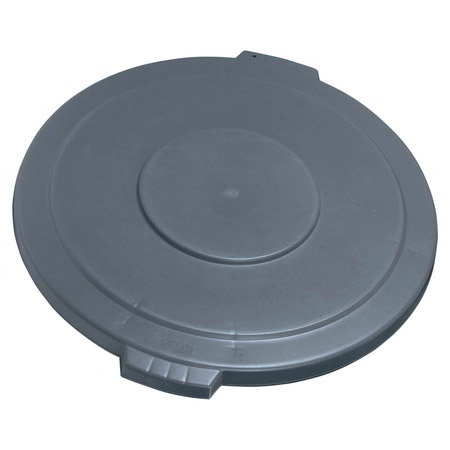 Carlisle 34104523 Round Flat Trash Can Lid - Plastic, Gray