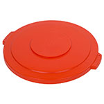 Carlisle 341045-24 Bronco Round Waste Container Lid, For 44-Gallon Container, Orange
