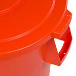 Carlisle 341045-24 Round Flat Trash Can Lid - Plastic, Orange