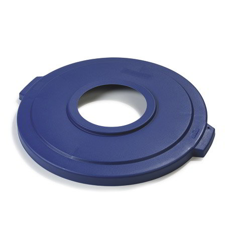 Carlisle 341045REC14 Round Recycling Trash Can Lid - Plastic, Blue
