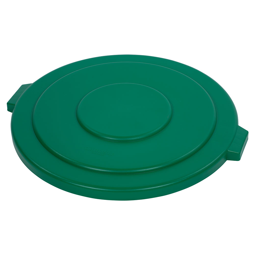 Carlisle 34105609 55-gal Round Waste Container Lid - Polyethylene, Green