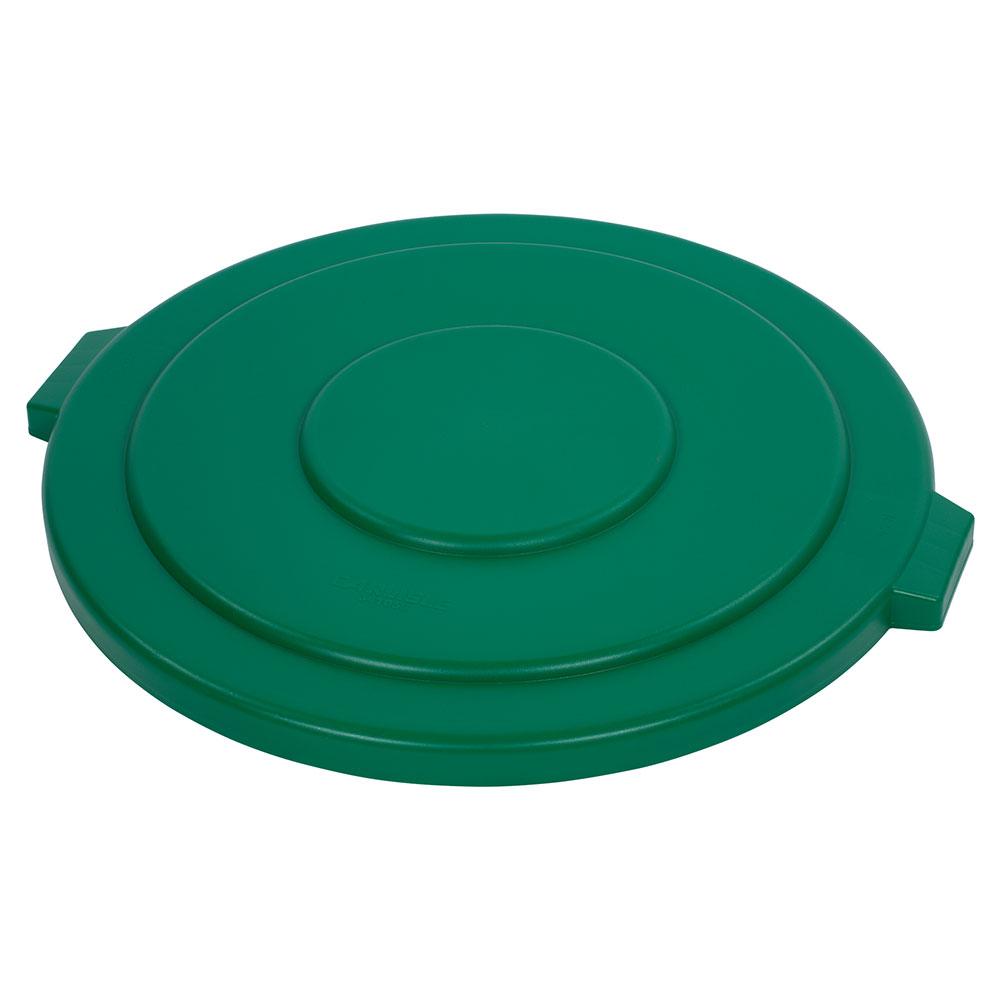 Carlisle 34105609 Round Flat Trash Can Lid Plastic Green