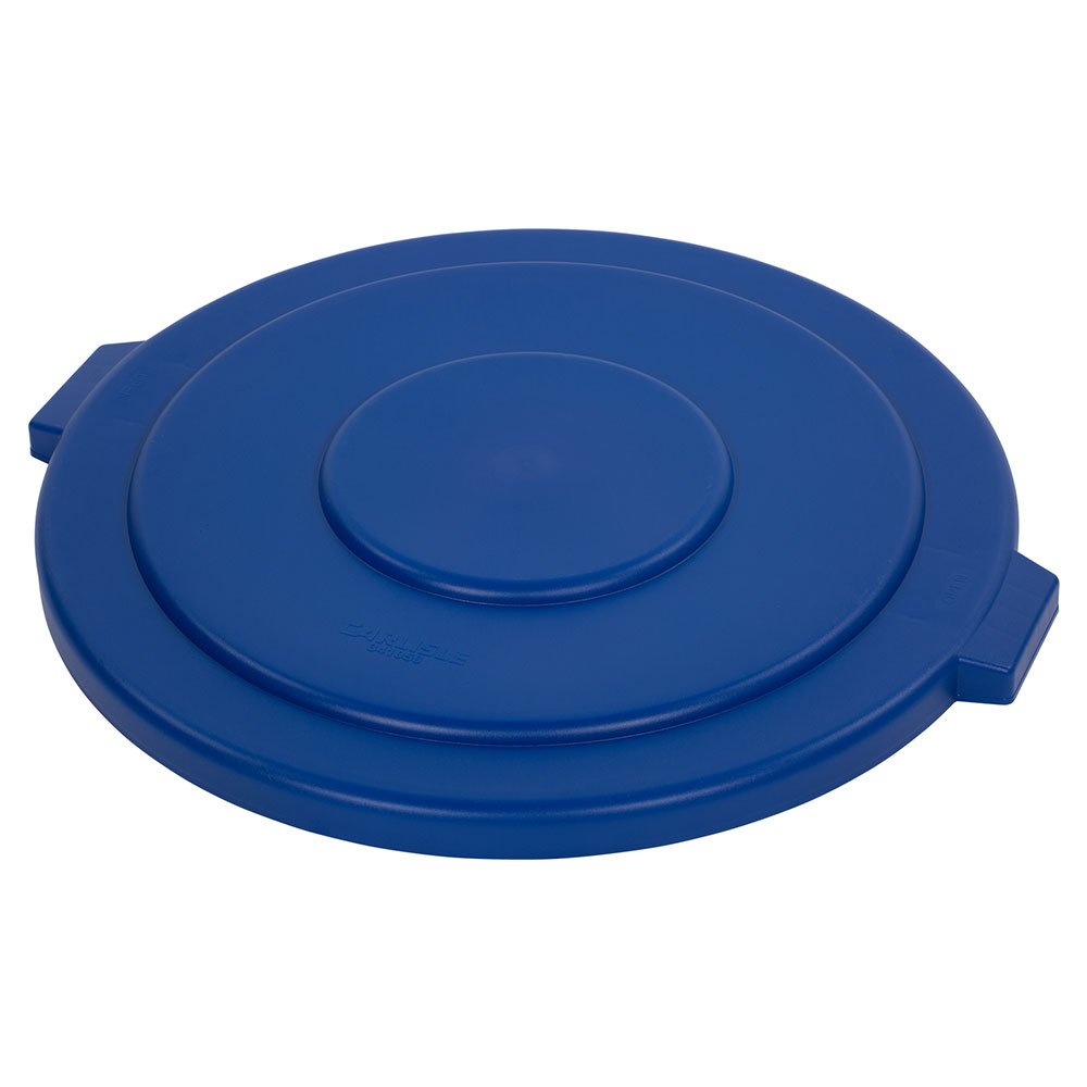Carlisle 34105614 55-gal Round Waste Container Lid - Polyethylene, Blue