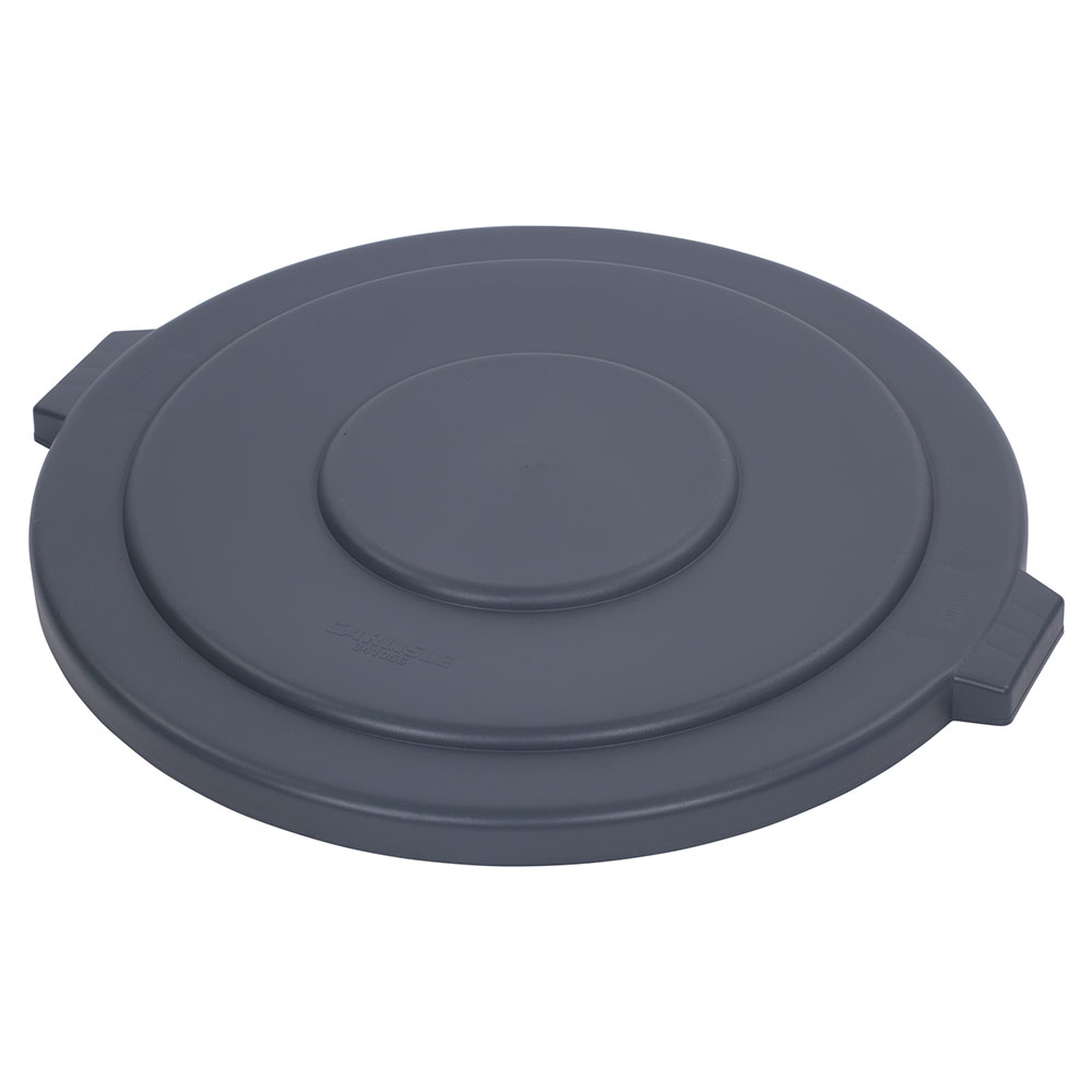 Carlisle 34105623 Round Flat Trash Can Lid - Plastic, Gray