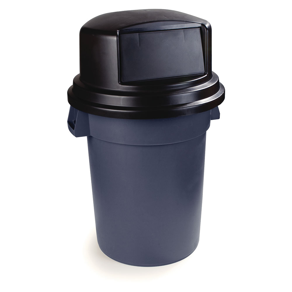 Carlisle 34105703 Round Dome Trash Can Lid - Plastic, Black