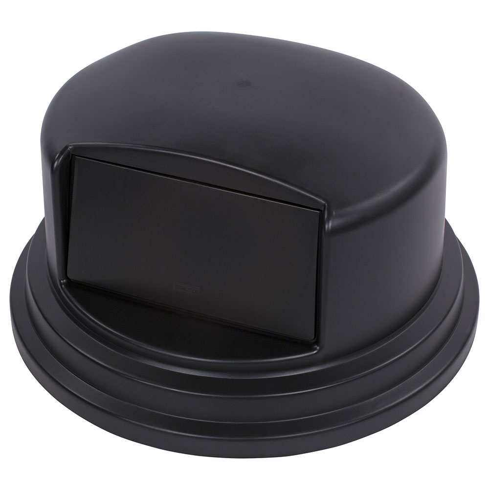 Carlisle 34105703 Round Dome Trash Can Lid - Plastic, Black