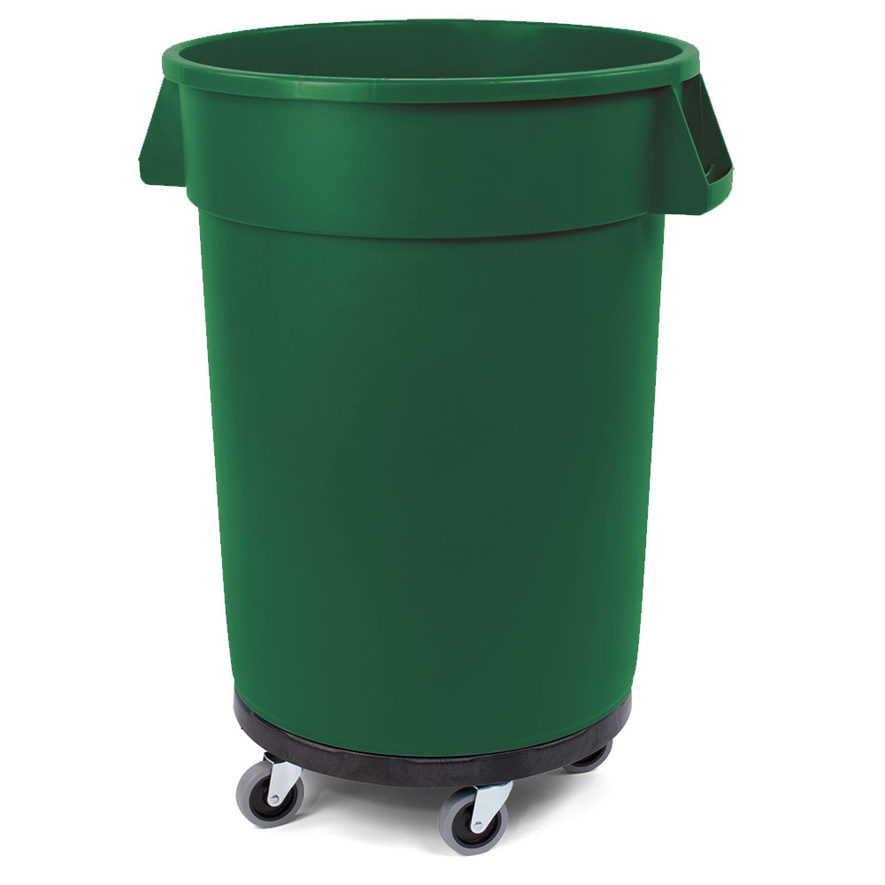 Carlisle 34114409 44-gal Multiple Materials Recycle Bin - Indoor/Outdoor, with Dolly