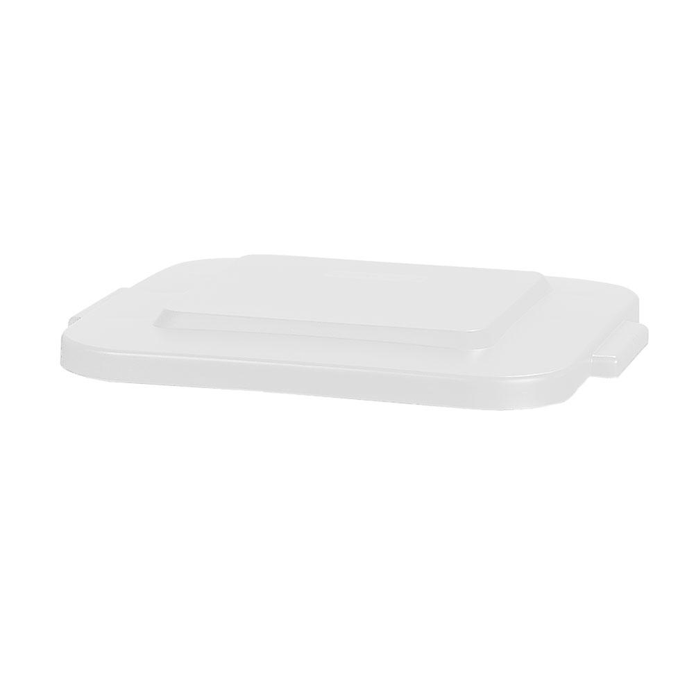 Carlisle 341529-02 Square Flat Trash Can Lid - Plastic, White