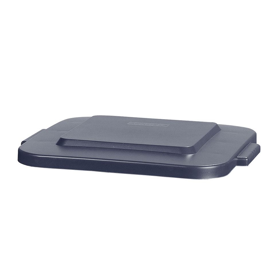 Carlisle 341541-23 Square Flat Trash Can Lid - Plastic, Gray
