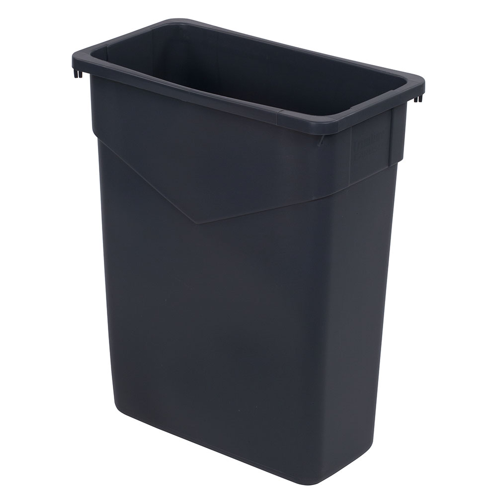 Carlisle 34201523 15-gallon Commercial Trash Can - Plastic, Rectangular, Built-in Handles