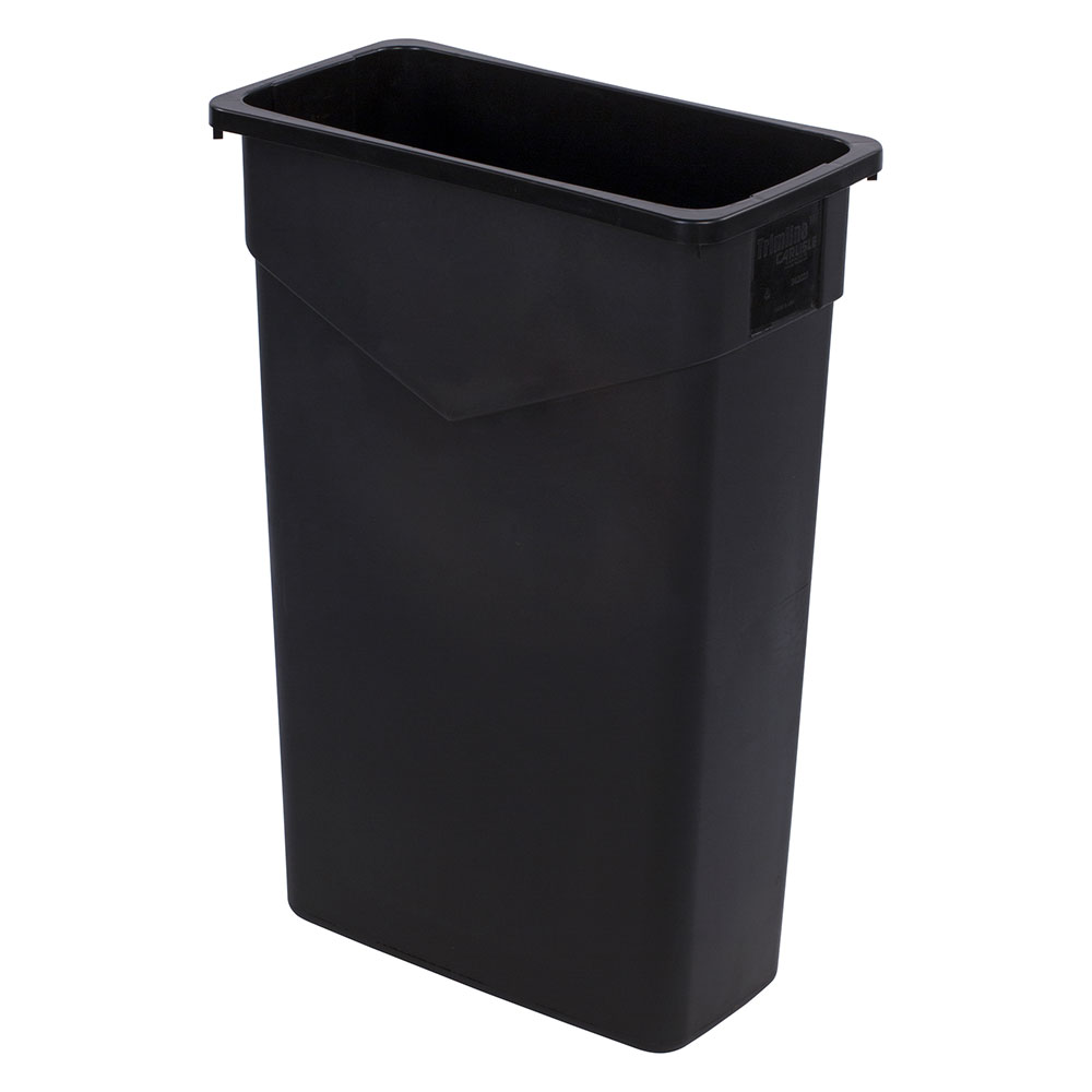 Carlisle 34202303 23-gallon Commercial Trash Can - Plastic, Rectangular, Built-in Handles