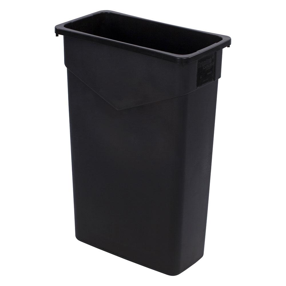 Carlisle 34202303 23 gallon commercial trash can plastic rectangular built in handles - Rectangular garbage cans ...