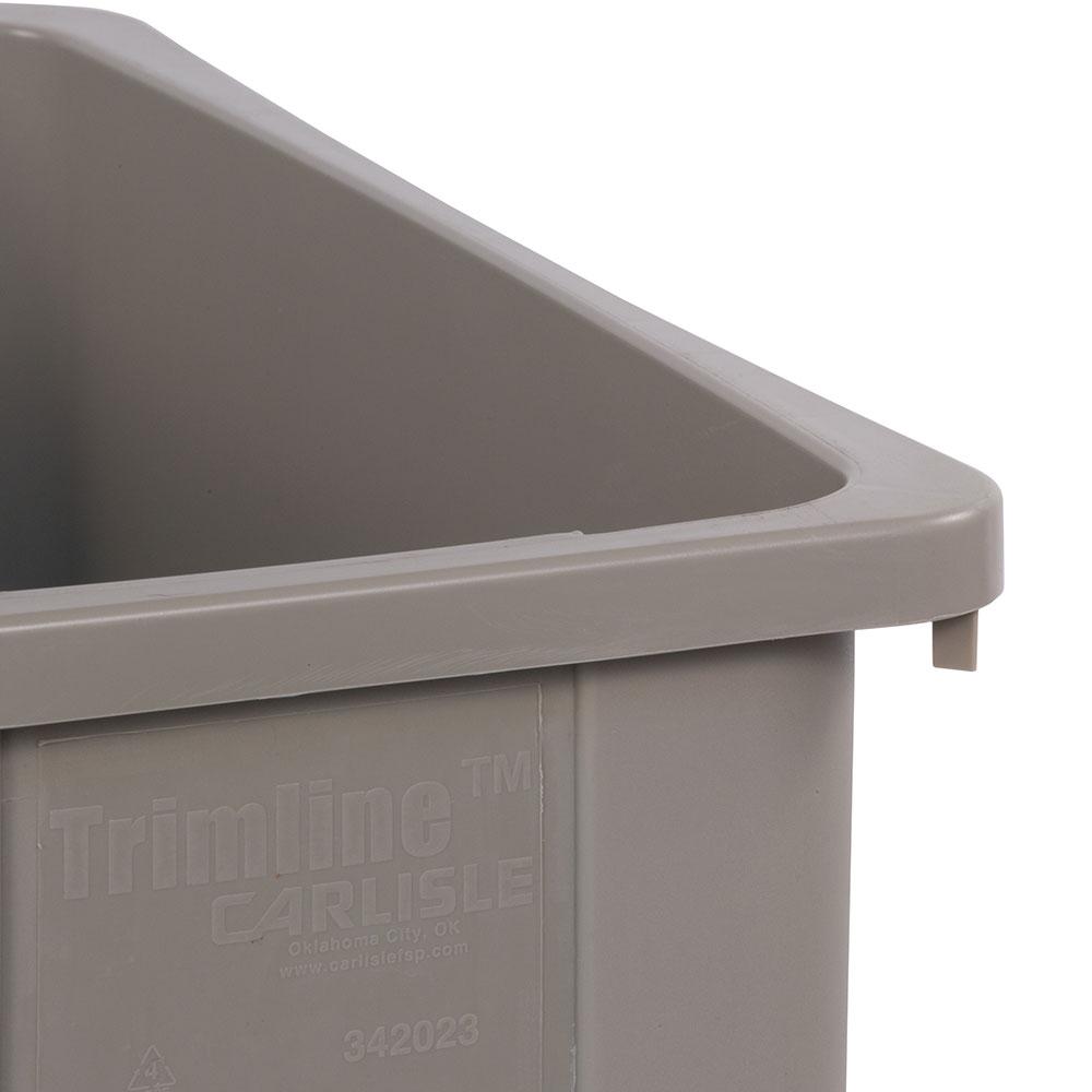 Carlisle 34202306 23-gallon Commercial Trash Can - Plastic, Rectangular, Built-in Handles